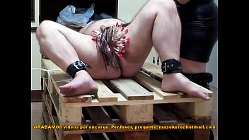 masokero - BDSM - Femdom - CBT - Pins &amp_ penis spanking with a rubber ruler