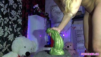 Hot blonde anal dragon dildo fetish-Watch more on hotcamz.ga