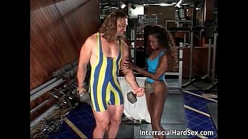 Interracial sex in the gym where muscled thumbnail