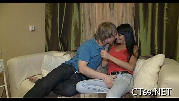 Soaked babe adores hot action