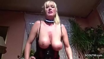 Big boob mature seduces German milf mother seduce to fuck by neigbour