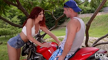 A Biker's Ride: Horny Redhead Shona River Needs Her Pussy Stuffed