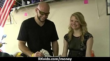Stunning Euro Teen Gets Talked In To Giving A Blowjob For Cash 3