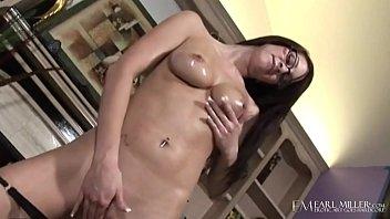 Beautiful female breasts Sweet four eyed talia shepard finger bangs in living room