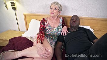 Mature Grandma with Big Tits lets a Black Cock cum Inside her Creampie Video video