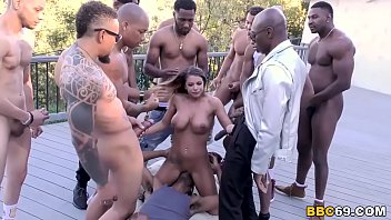 Brooklyn Chase Interracial Orgy