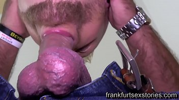 Plumber gets a hard fuck by beefy mature guy with huge dick