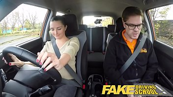 Fake Driving School little English teen gets fucked after her lesson