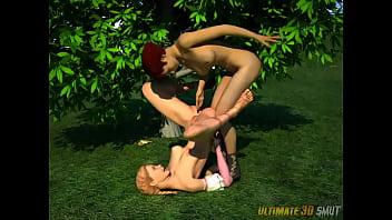 Woken for sex Alice in wonderfuckland. 3d xxx cartoon fantasy foursome.