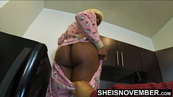 Erotic sleep wear - Daddies girl msnovember butt flap opened by horny step dad while mom is gone, wearing hello kitty pajamas daddy plays with young ebony step daughter pussy ass before the wife gets home on sheisnovember