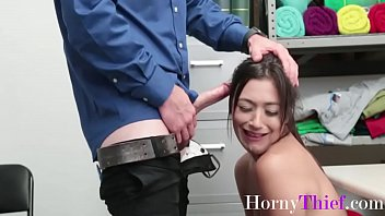 Petite Skinny Brunette Teen Forced By Security-Brooklyn Gray