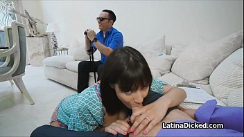 Bigtit cheats in front of blind hubby 6 min