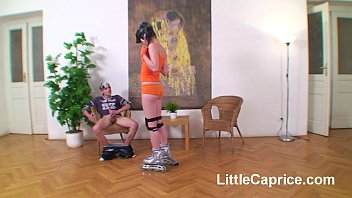 Roller skating teen Little Caprice fucked 4 creampie