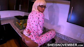 Ebony Nerd Msnovember SweetAss Ate By Her Moms Husband, JuicyBooty Spread Open For Her Daddy Hungry Tongue In Her Butt Flap Pajamas , Realty Family Taboo AssWorship On Sheisnovember