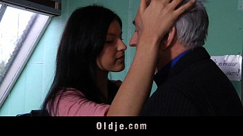 Adult students and teacher Old teacher sex-classes with teeny student