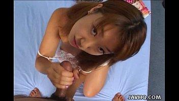 Pretty Maho Aizawa Hot Handjob!
