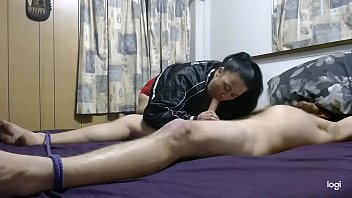 Becky Ties Daddy Up & Pleasures Him With Her Slutty, Well Trained Mouth