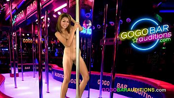 Gogo nude dancing Seedy bar manager gives audition to young thai girl