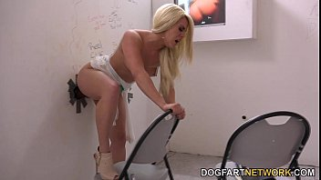 Brooke Summers cheats on her boyfriend at a gloryhole
