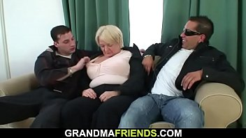 Picked up blonde grandmother double penetration pornhub video