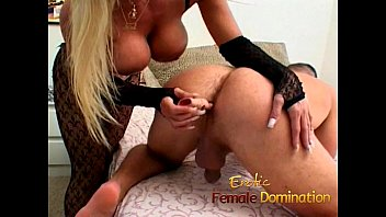 Hot blonde fucks her slave after he drilled her first-6