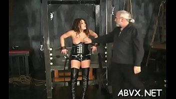 Naked wife bizarre home porn in coarse bondage amateur scenes