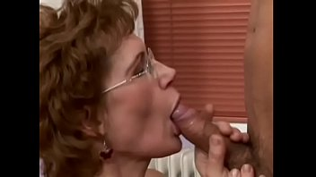 Red haired hairy granny gets a good humpin'