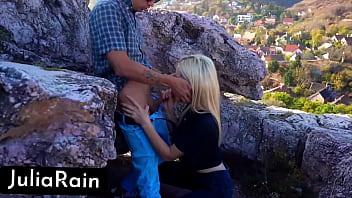 Sexy Blonde Deepthroat Big Dick Devils Kos on the Mountain Closeup صورة
