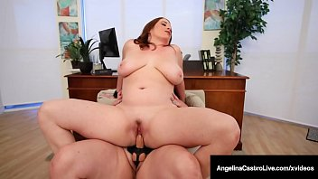 Dr. Angelina Castro Cures Big Maggie Green With Fat StrapOn!