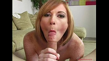 Ball sucking blowjob - Allison wyte got her mouth creamed on