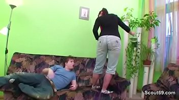 Teen n mature - Step-son seduce stepmother to fuck when dad not home