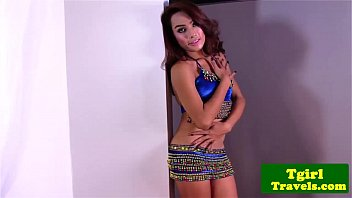 Shemales undressing - Ts champagne undresses very sensually
