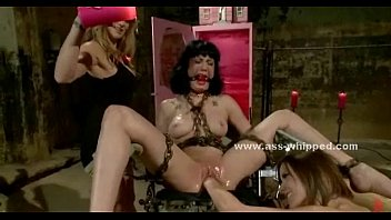 Lesbian toy babe tied in chains sex