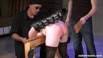 Training apprentice to spank and torture teen till she cries