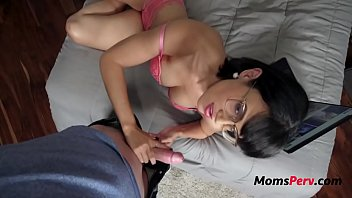 Hot Mother Makes Son Watch Porn With Her & Fucks Him- Penny Barber