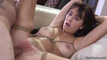Husband fucks butt plugged wife