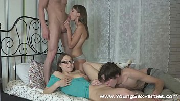 Girlfriends Tanielle and Macy fucked in a four-way tumblr xxx video