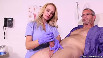 BUSTY Nurse MILKS her patient - Over 40 Handjob