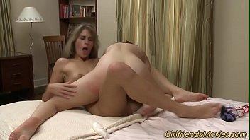 Horny lesbians scissoring
