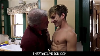 Hot Blonde Twink Grandson Bar Addison Sex With His Hunk Grandpa Dale Savage In Family Kitchen