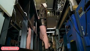 Jeny Smith naked barmaid on duty - 69VClub.Com