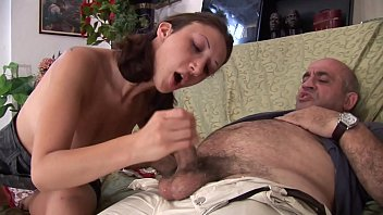 Filth father can't resist to her sexy daughter
