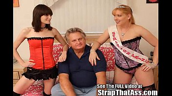 Two Strap On Fem Dom Princesses Fuck A Fat Subby preview image