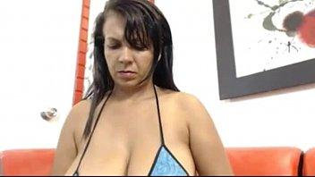 Mama With HUGE Tits Masturbates Nervously -DamnCam.net