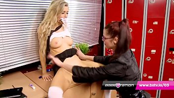Karina Currie fucks Michelle Moist in the Babestation classroom