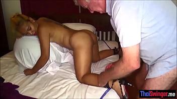 Filipina amateur wife bound & used bareback