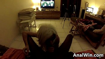 Blonde 19 Year Old Does Anal With A BBC POV