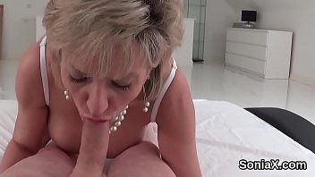 Unfaithful english milf lady sonia showcases her enormous titties