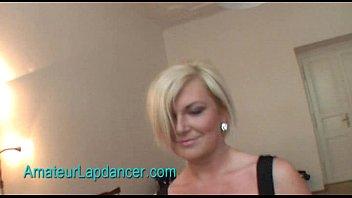 Gorgeous czech Simona does lapdance with hot strip