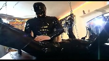 Crazy latex girls Sexy slave hanging and waiting for something to blow